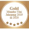 Auszeichnung Gold Mundus Vini Jahrgang 2019 in 2020 für Torrevento Primitivo Nuda Verita