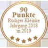 Auszeichnung Rüdiger Kleinke Jahrgang 2018 in 2019 für Bodegas Nubori Rioja Cata Nobilis