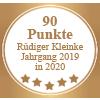 Auszeichnung 90 Punkte - Rüdiger Kleinke Jahrgang 2019 in 2020