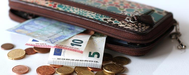 Bargeld in Portemonnaie