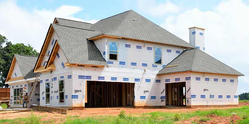 Ein Haus wird gebaut