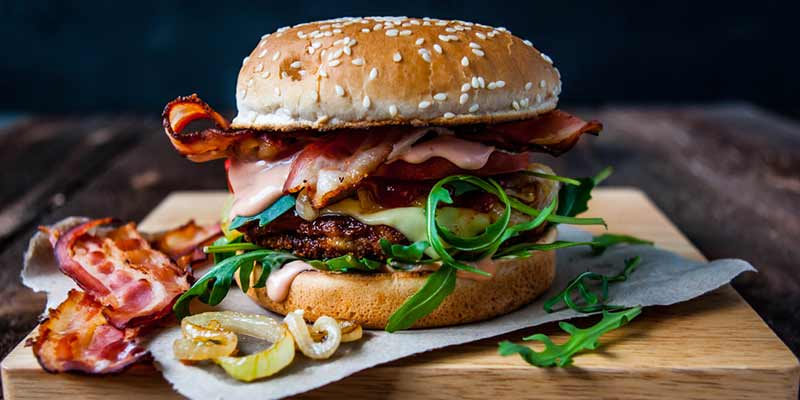 Frischer Hamburger