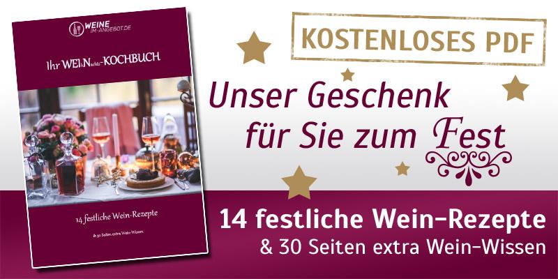 Unser Geschenk für Sie zum Fest: 14 festliche Wein-Rezepte als kostenloses PDF