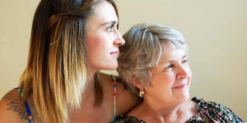 Tochter und Mutter