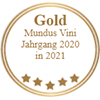 Gold - Mundus Vini Jahrgang 2020 in 2021