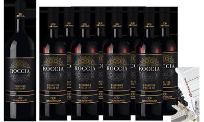 Weinpaket Hawesko Roccia Primitivo