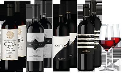 Enzo Primitivo Paket in schwarz-weiß