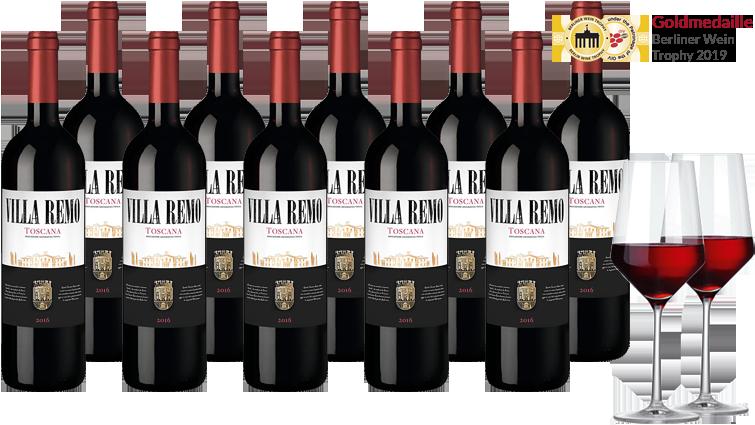 Hawesko Villa Remo Rosso Weinpaket
