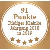 Auszeichnung 91 Punkte - Rüdiger Kleinke Jahrgang 2018 in 2019 für Torrevento Primitivo 20 Anniver