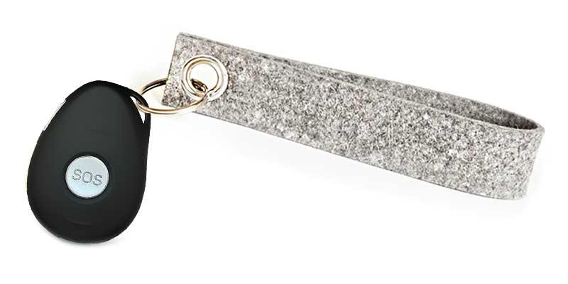Mobiler Notrufknopf - Diskretes Design, z.B. als Schlüsselanhänger
