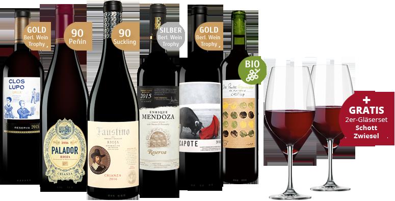 Vinos Rotwein-Paket