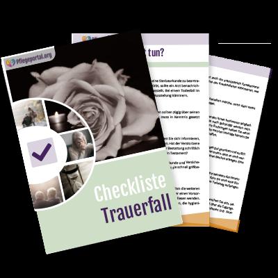 Checkliste für einen Trauerfall