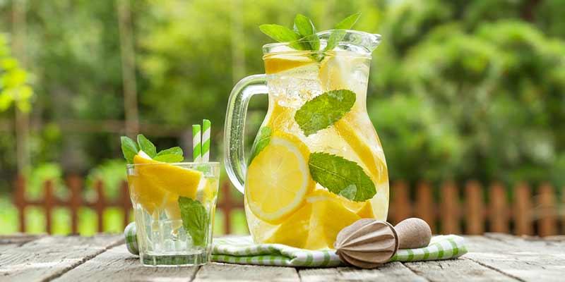 Erfrischungsgetränk im Sommer