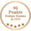Auszeichnung 90 Punkte - Rüdiger Kleinke in 2020 für Messias Vinho Rosé Surpresa