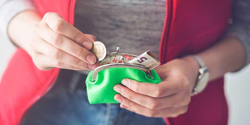 Bargeld im Portemonnaie