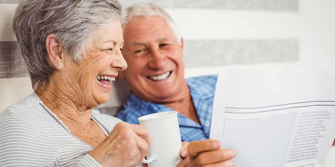 Glückliche Senioren