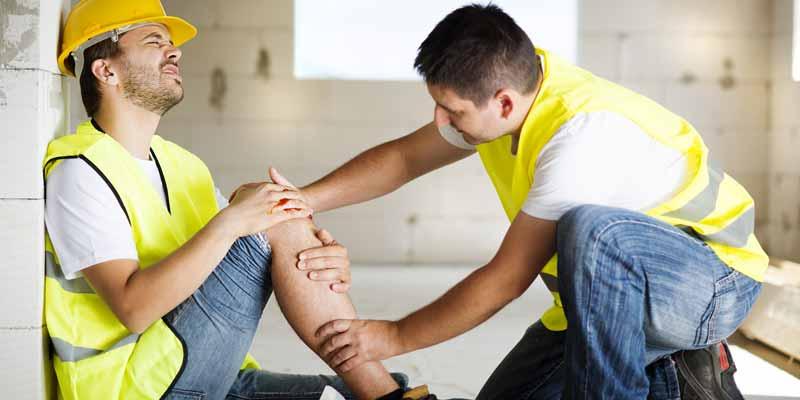 Arbeitsunfall auf einer Baustelle