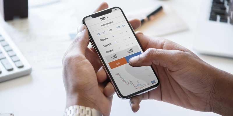 Finanzgeschäfte am Smartphone