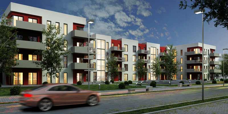 Neubau an einer Straße