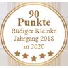 90 Punkte - Rüdiger Kleinke Jahrgang 2018 in 2020