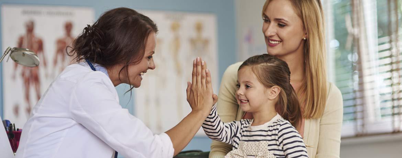 Arztbesuch mit Kind