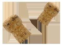 Zwei Weinkorken