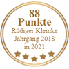 88 Punkte - Rüdiger Kleinke Jahrgang 2018 in 2021