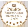 88 Punkte - Rüdiger Kleinke Jahrgang 2019 in 2020