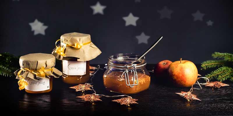 Apfelgelee zur Weihnachtszeit