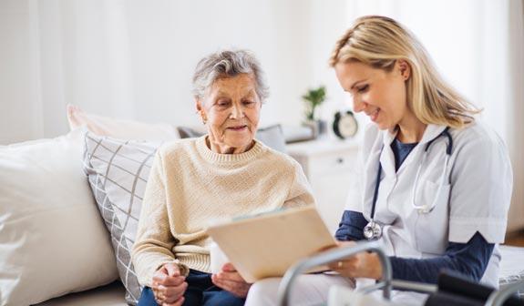 Entspanntes Patientengespräch