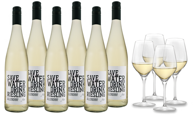 Ebrosia Allendorf Save Water Drink Riesling