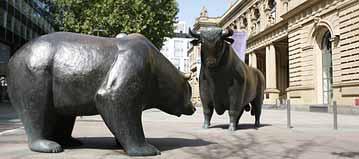 Bullen an der Börse