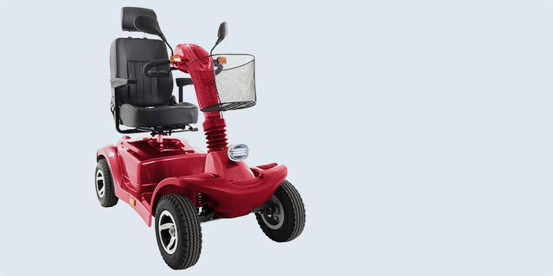 Rotes Elektromobil