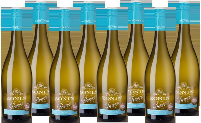 8 Flaschen Hawesko Zonin Prosecco Frizzante