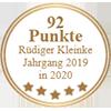 92 Punkte - Rüdiger Kleinke Jahrgang 2019 in 2020